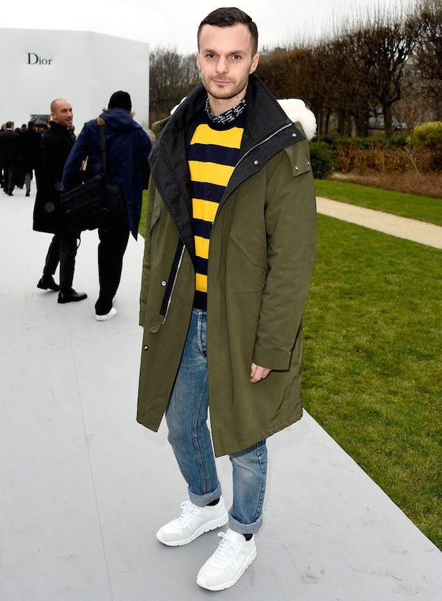 814a881624f712 Kris Van Assche Wears Dior Homme for Paris Fashion Week Show ...