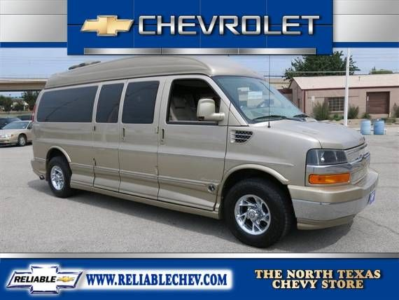 Dallas Tx Used 2008 Chevrolet Express Conversion Van Explorer 9 Psgr High Top Gold 81140076 Chevrolet Auto Body
