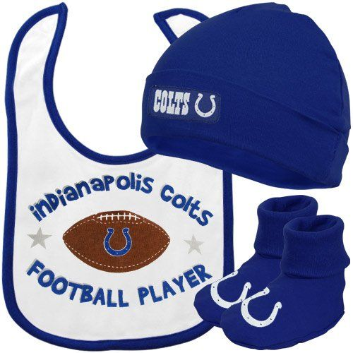 7565851e600 NFL InfantToddler Boys Indianapolis Colts Cap Bootie Bib SetTeam Color 6M    Be sure to check out this awesome product.