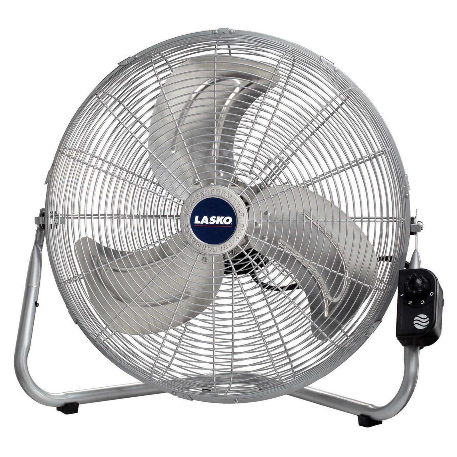 Lasko 20 In Floor Fan Silver High Velocity Fan