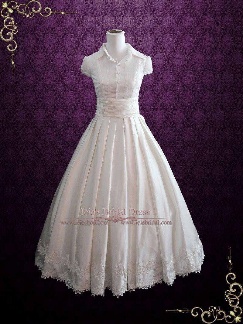 Fairy tale piece satin ball gown wedding dress wedding dress