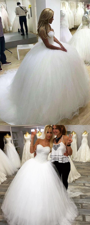 Sweetheart ball gown wedding dress  Bling Bling Sequins Beaded Sweetheart Ball Gowns Wedding Dresses