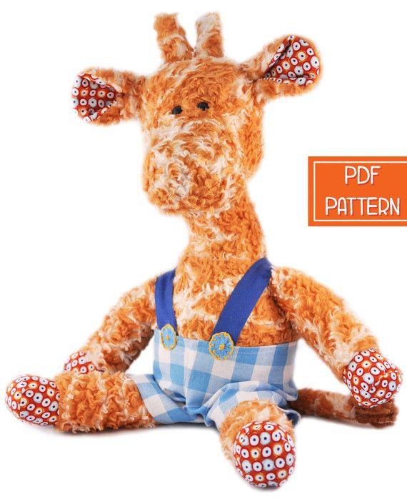 Plush Pattern | Giraffe Toy Pattern | Soft Toy PDF Sewing Pattern ...