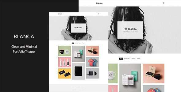 Blanca - Clean and Minimal Portfolio Theme • Download theme ...