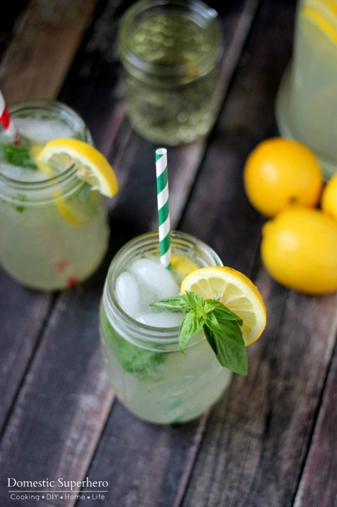 The BEST Homemade Basil Lemonade #basillemonade