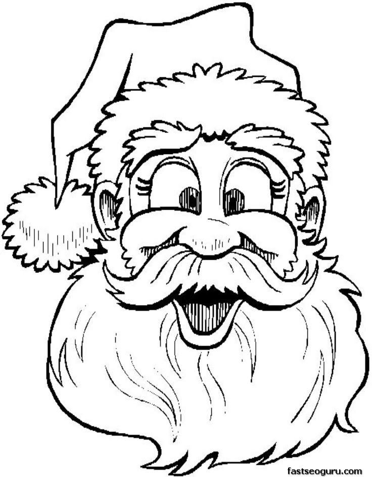 christmas printable coloring sheet santa claus says merry | SANTA ...