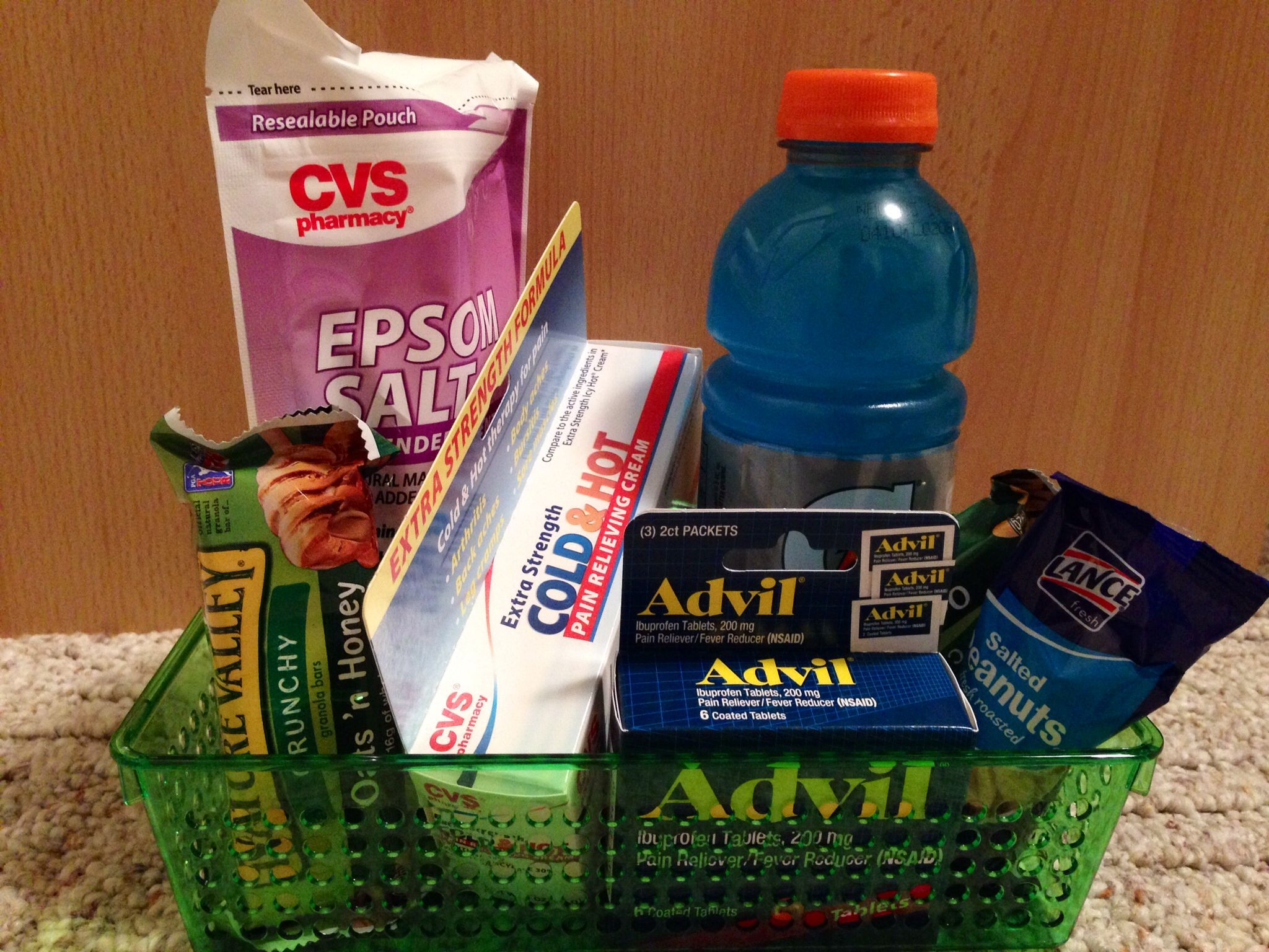 Gift basket ideas for runners best images about running themed gift gift basket ideas for runners i made this care package for my best friend and negle Choice Image