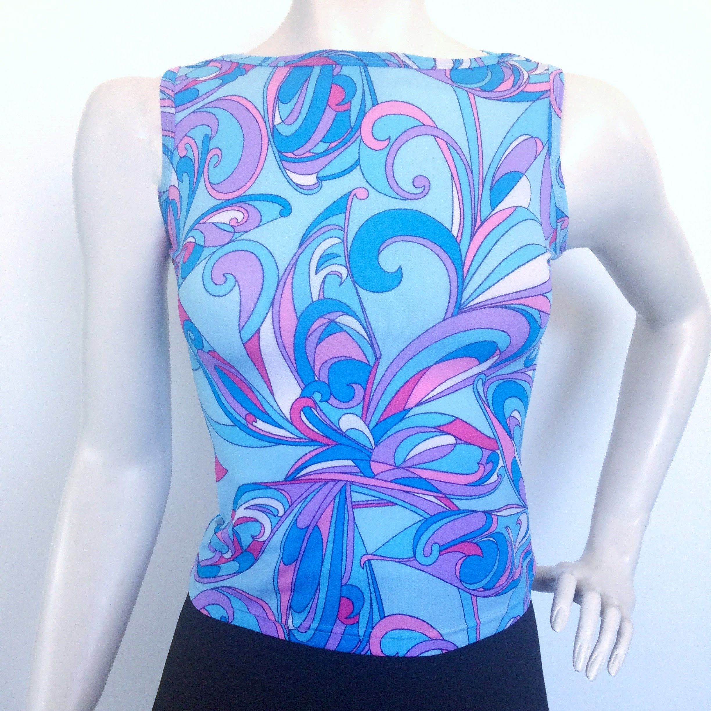 Vintage Psychedelic 90s Y2k Top With Pucci Inspired Print By Unknownquantity On Etsy Fashion Style Fash Vintage Outfits Psychedelic Pattern Vintage Fashion