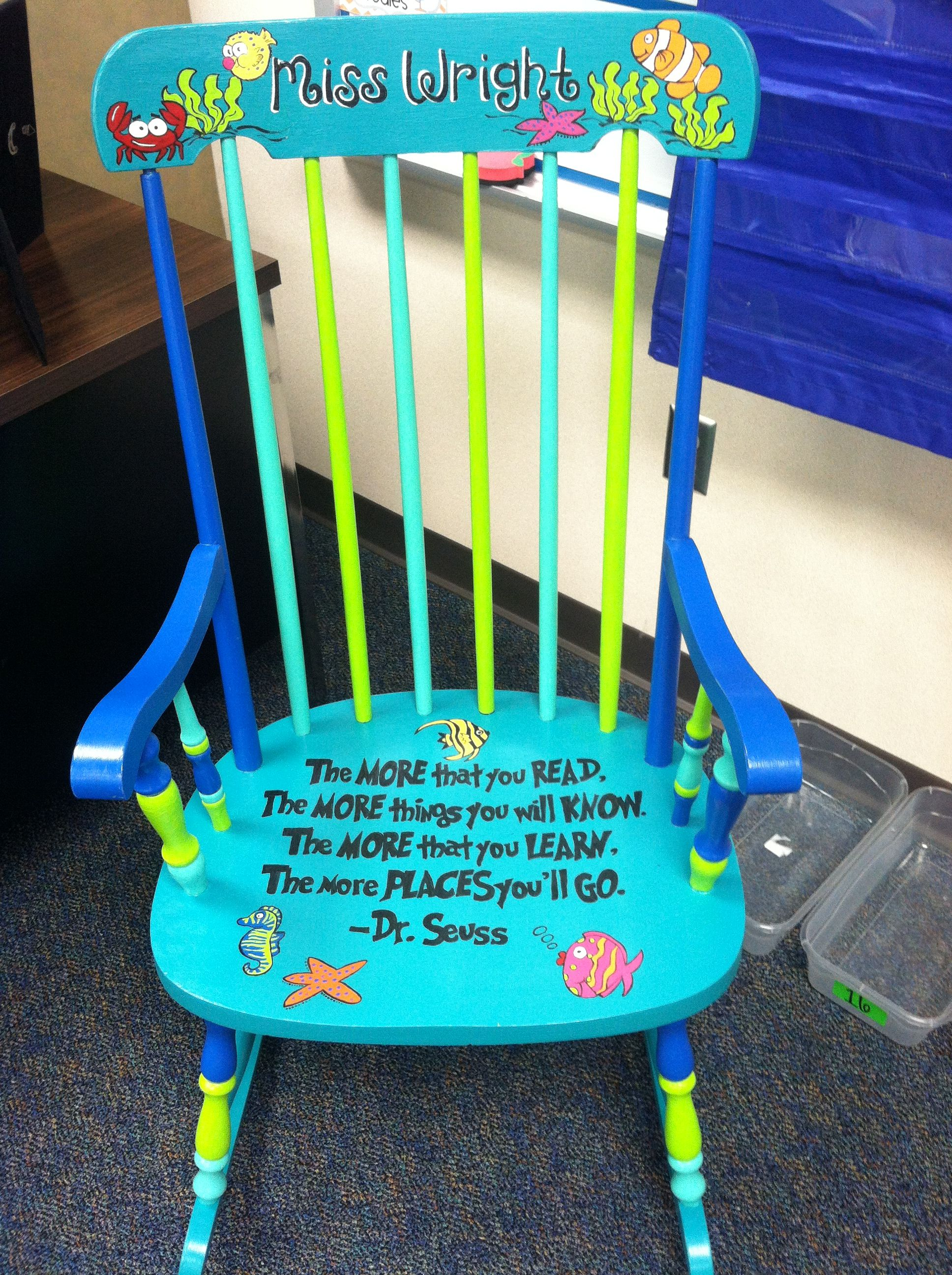 Teacher Chair I Would Love Love Love My Own Painted Classroom Chair