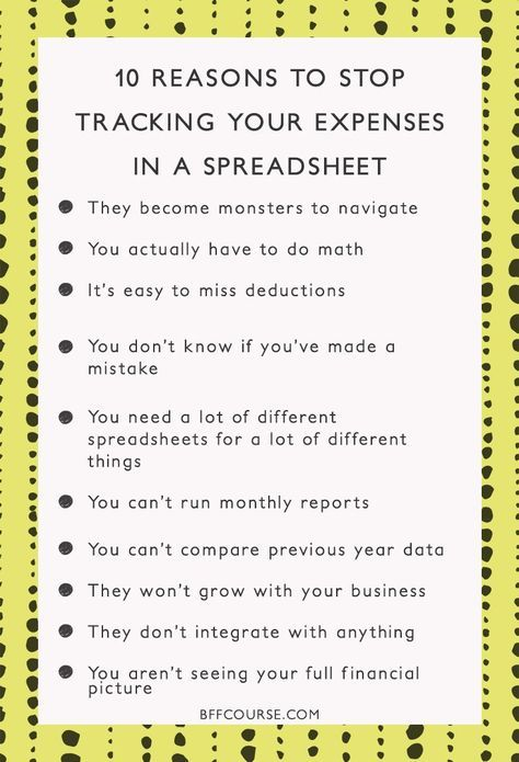 10 Reason to Stop Tracking Your Expenses in a Spreadsheet (like - Financial Spreadsheet For Small Business