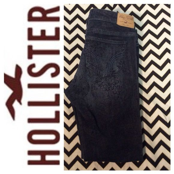 ⭕️clearance⭕️Hollister floral print jeans Size 27/5 in mint condition Hollister Jeans Skinny