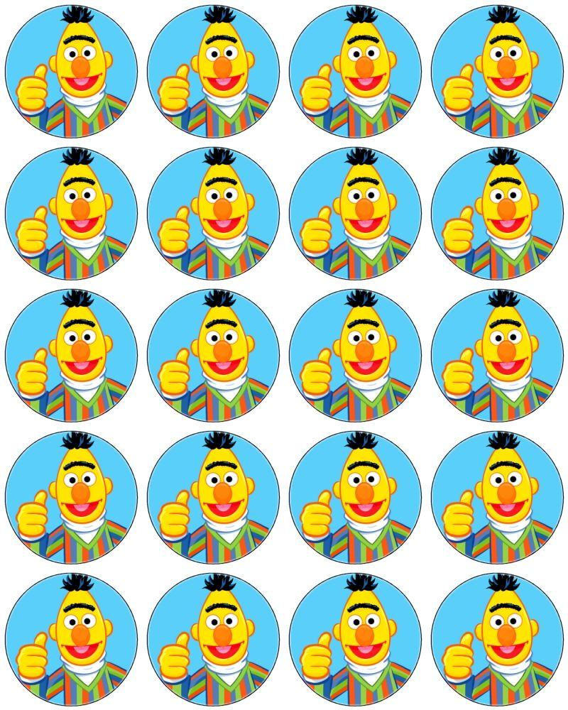 Cupcake Toppers | sesamstraat | Pinterest | Plaza sesamo, Sesamo y Plaza
