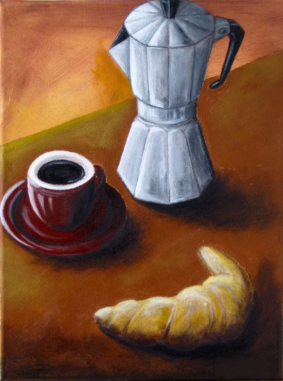 Time For Espresso. Acrylics On Canvas