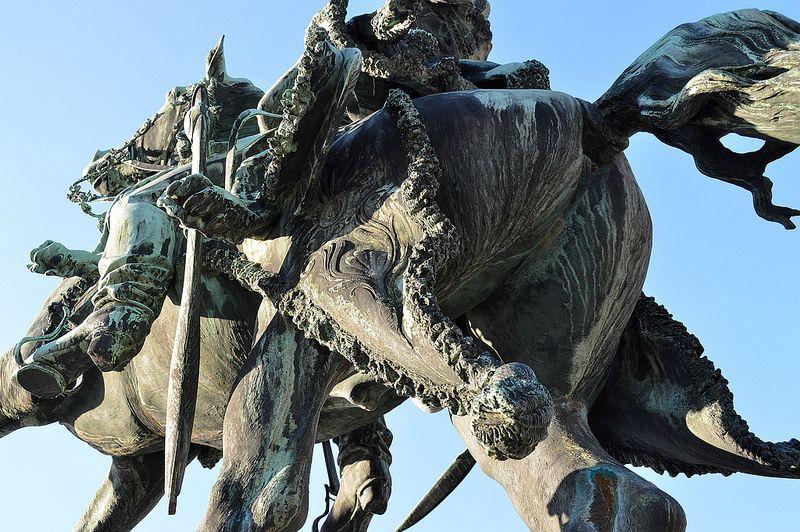 Statue équestre (Bronze) du Général Lasalle Chateau de Luneville.Lorraine