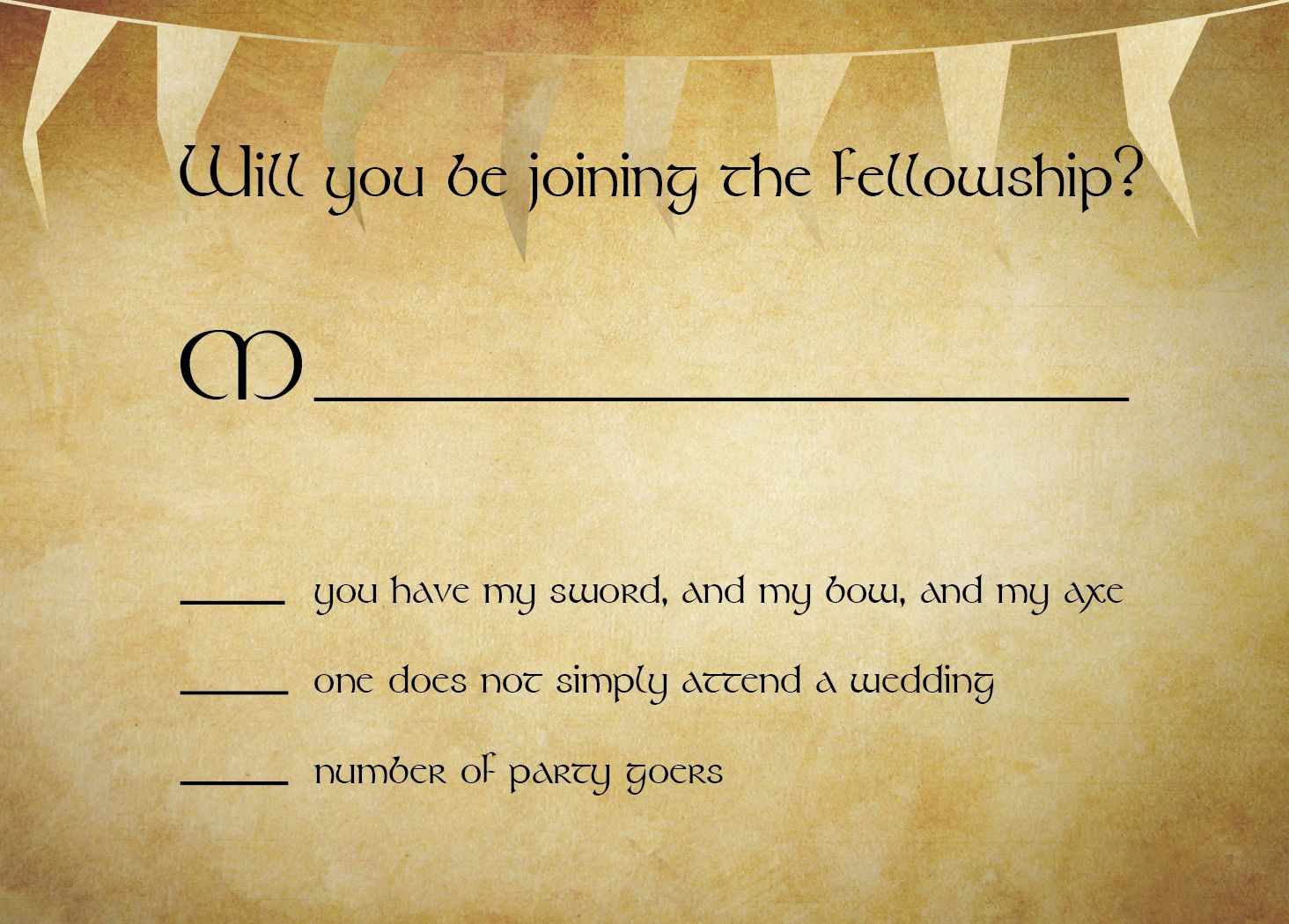 lord of the rings themed wedding invitations google search