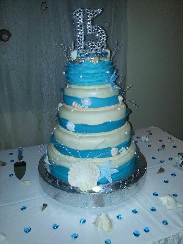 15th Birthday Cake Under The Sea 15th Birthday Cakes Ocean
