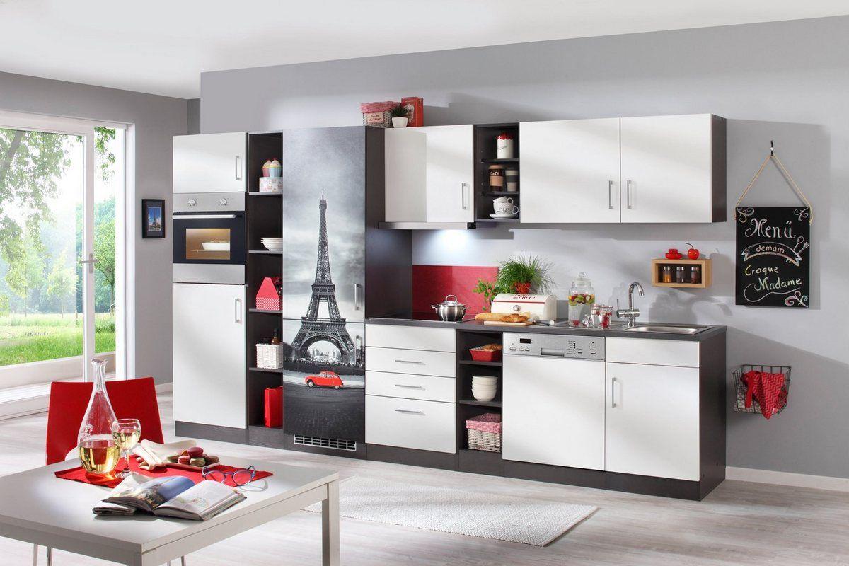 Kuchenzeile Mit E Geraten Paris Gesamtbreite 350 Cm Held Mobel Kuchenzeilen