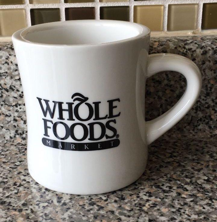 Whole Foods Market Coffee Mug Tea Cup Black White