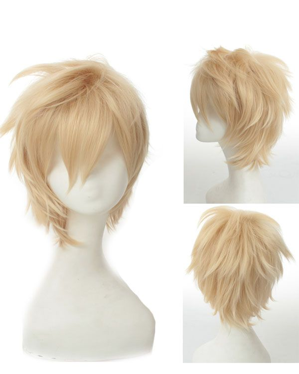 Blonde Cosplay Wigs Short Costumes Wigs For Themed Party Blonde Cosplay Wig Cosplay Hair Hairstyles With Bangs