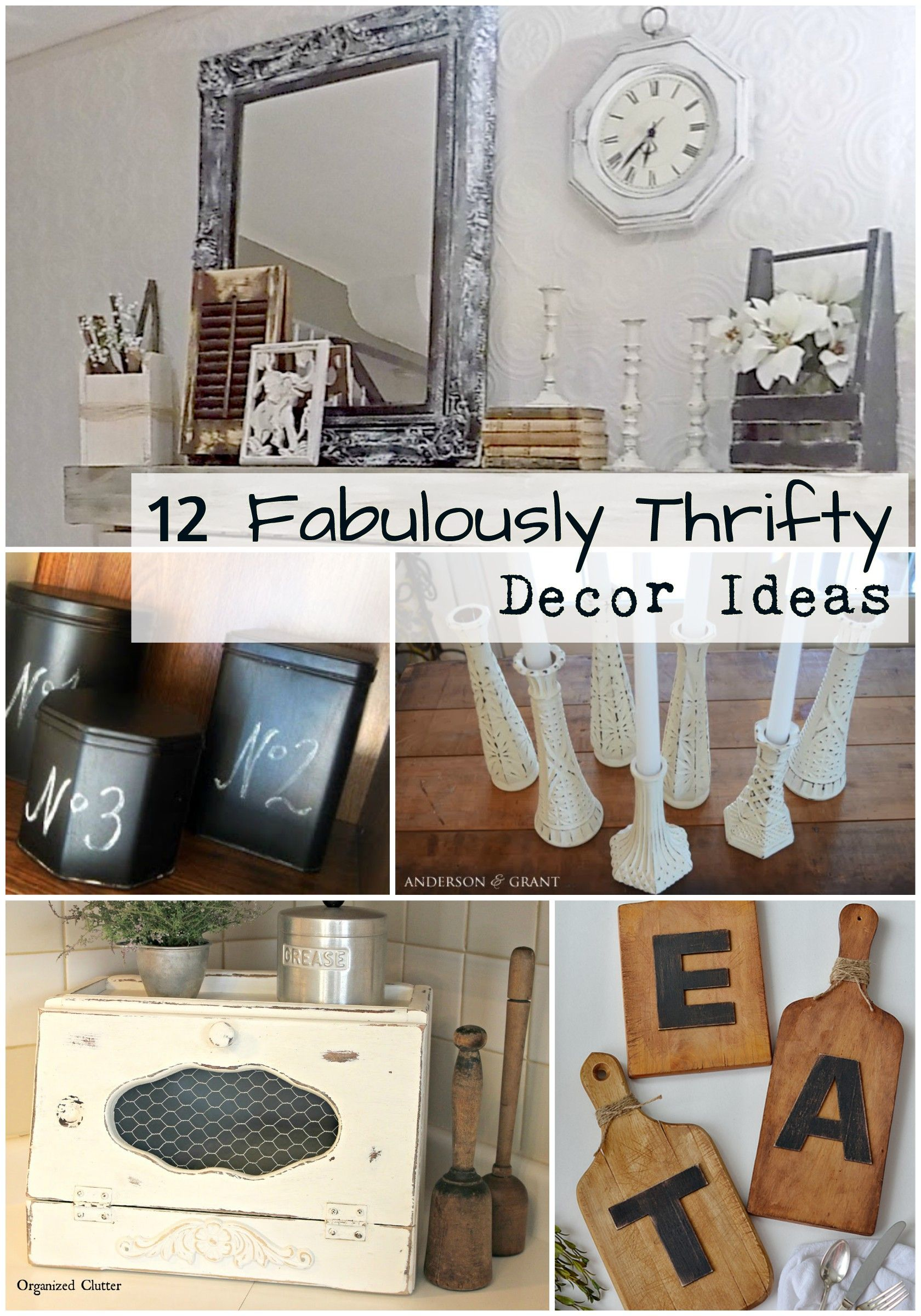 Decorate Your Home For Less By Refinishing Thrift Store Decor! Simple Home  Decor Ideas From
