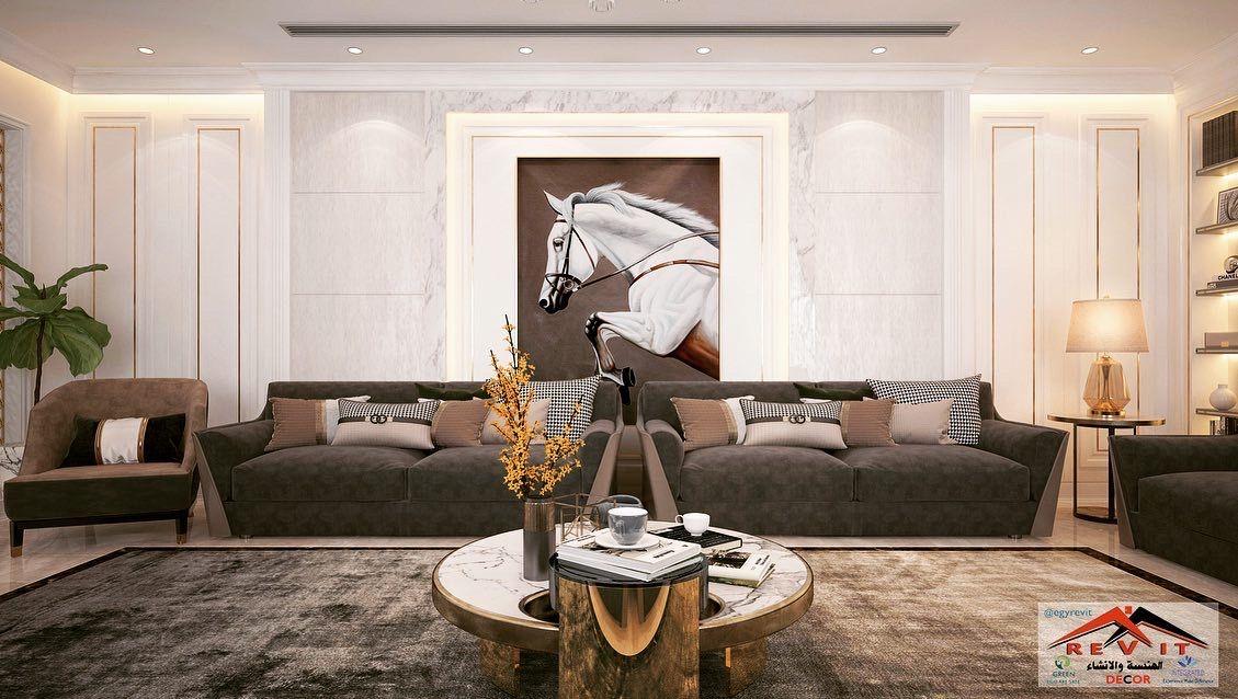 تصميم ديكور مجلس رجال نيو كلاسيك في جده Floor Seating Living Room Luxury Bedroom Design Living Room Decor Modern