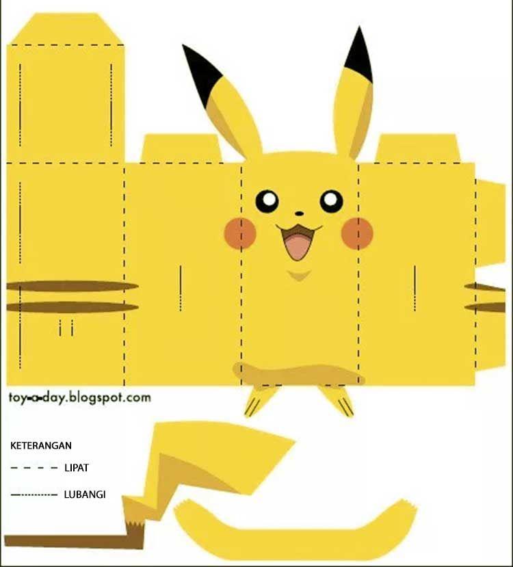 Cara Membuat Boneka Danbo Pikachu Dari Karton Pikachu Boneka