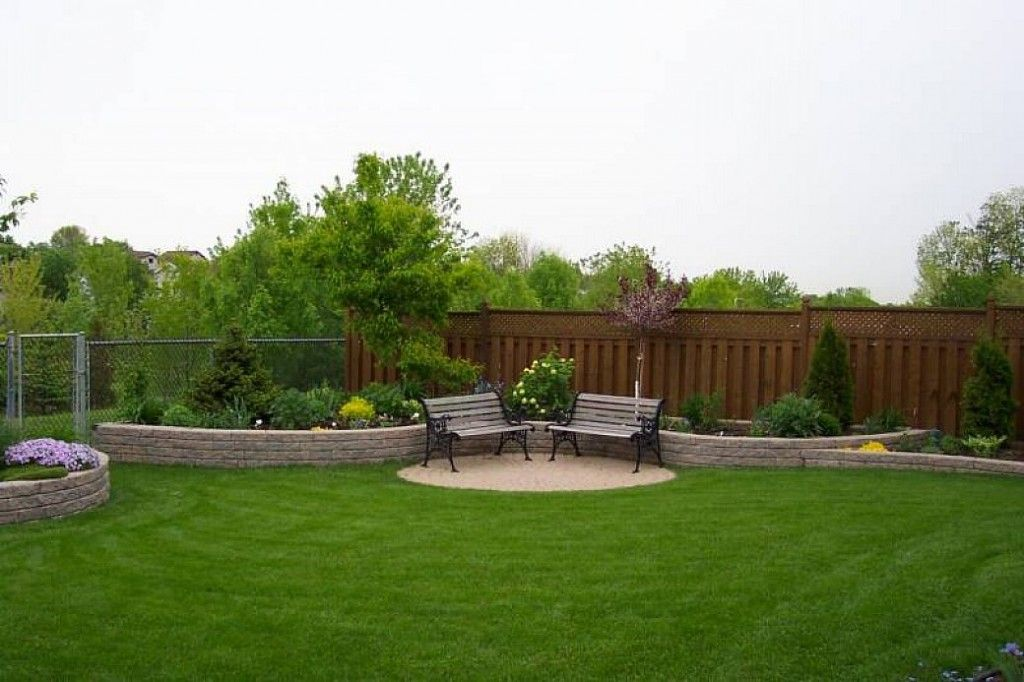 Large landscaping ideas backyard design outdoor space for Back garden simple designs