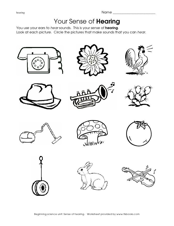 Image result for worksheet sounds surrounding preschool