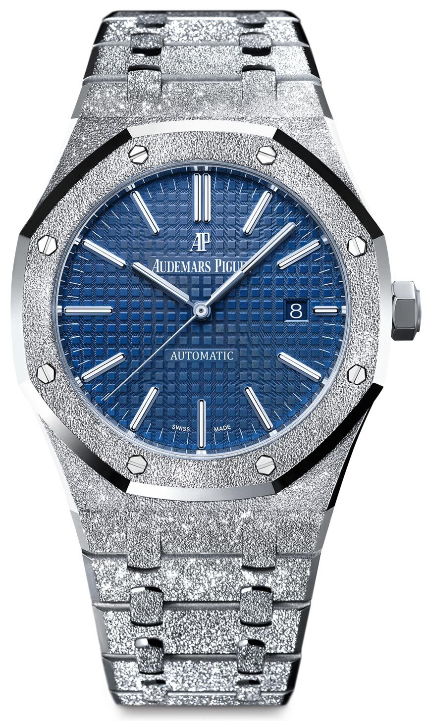 bf738f5ca Audemars Piguet Royal Oak Frosted Gold 41mm is prepared using a hammering  technique by Italian jeweler, Carolina Bucci. Check out this release on ...
