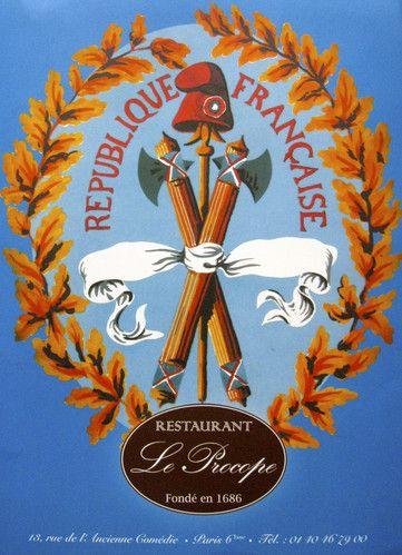 Le Procope fue escenario de los mas importantes acontecimientos historicos de Francia. Paris. FR.-