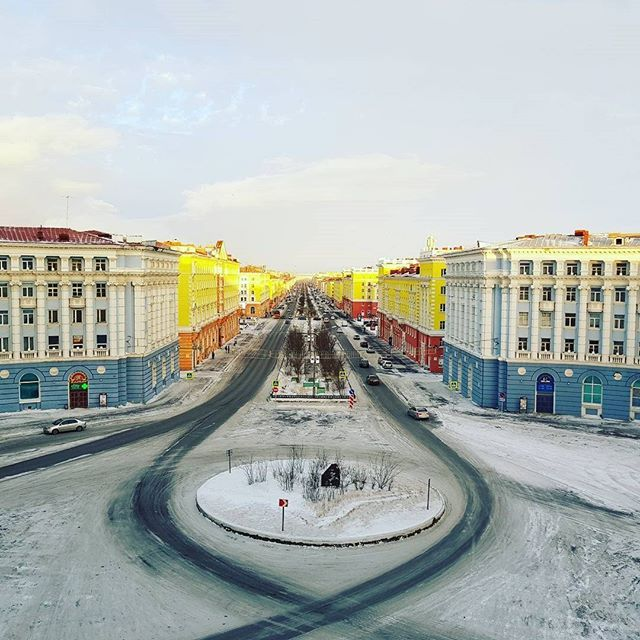 Norilsk map The Streets of my Siberian city Norilsk Live and