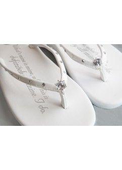 64e90dbaf Girl Two Doors Down Bridal Flip Flops  Wedding Diamond Ring - Flat http