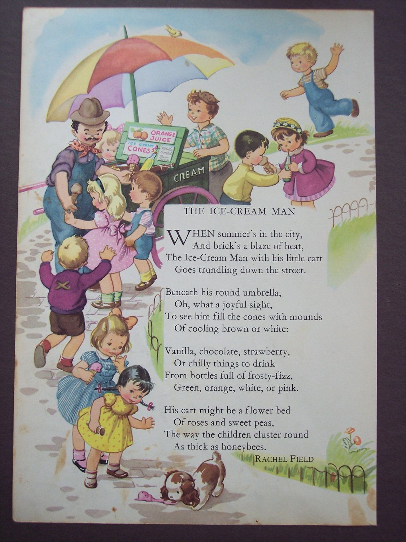 Nursery Rhyme Print Vintage Children S Book Illustration