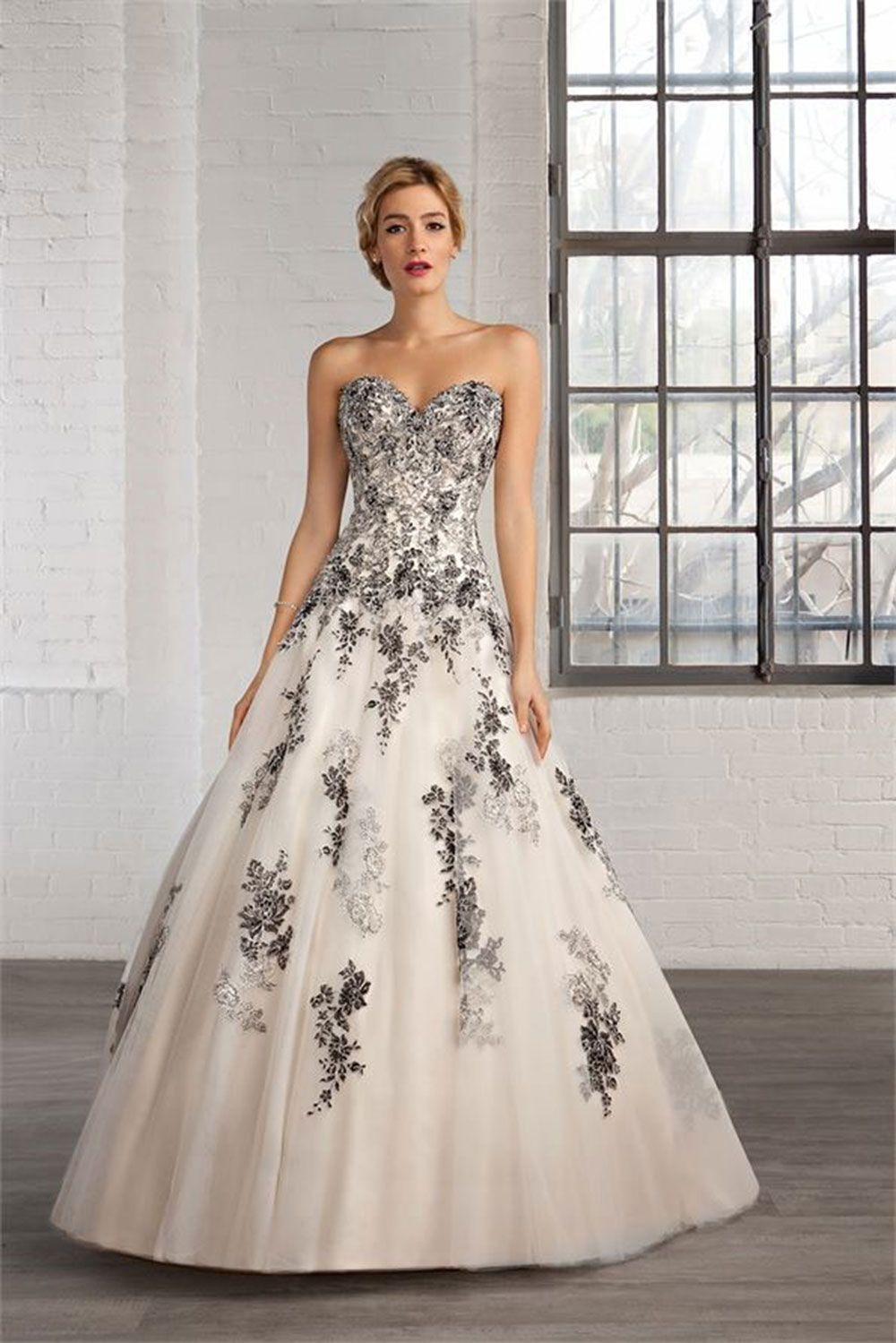 47194efbd9b If you want to incorporate some black into your wedding gown but aren t  feeling