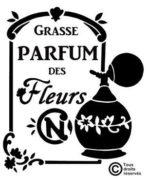 Pochoir Adhésif 25 x 20 cm PUB PARFUM DES FLEURS