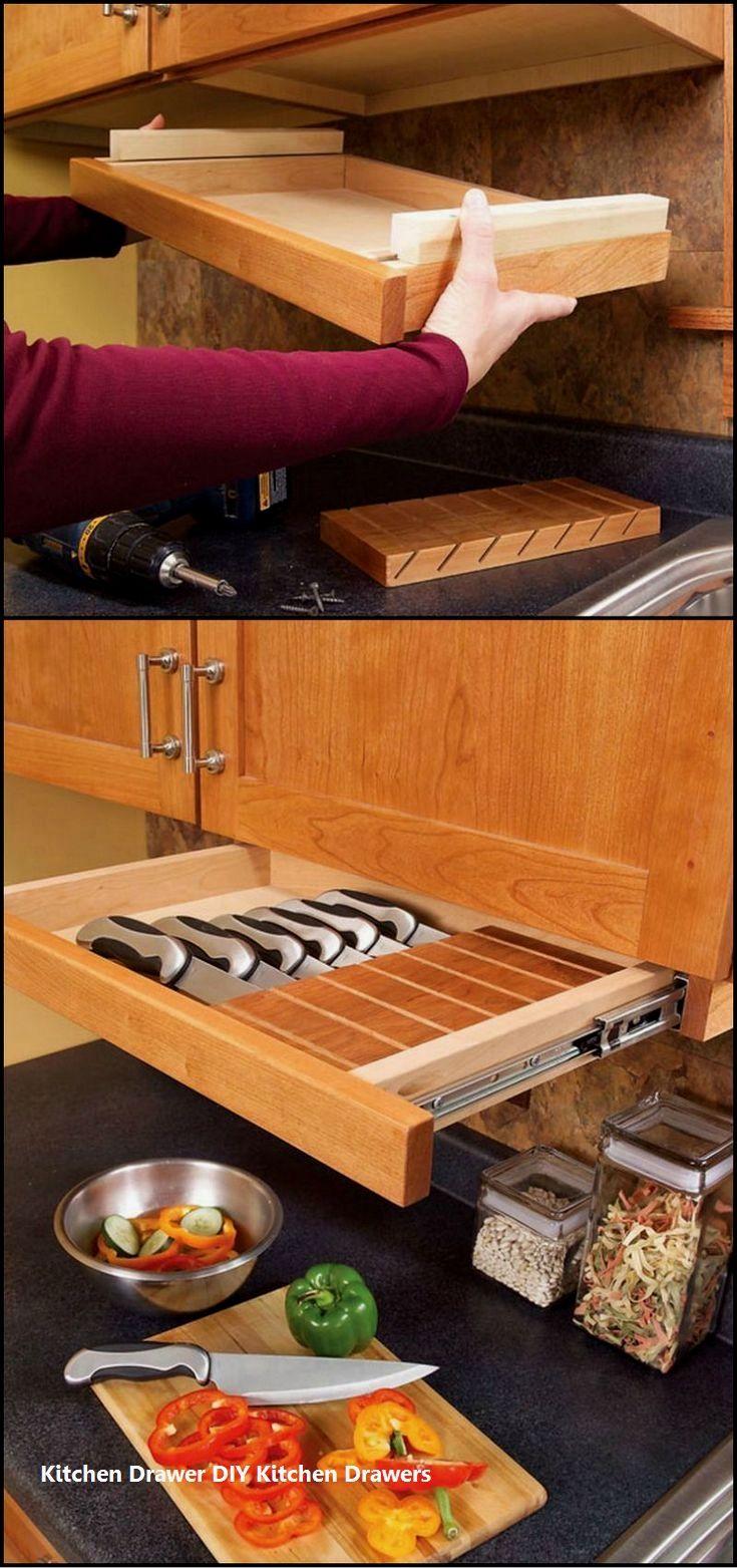 über küchenschrank ideen zu dekorieren  incredible kitchen drawer diys  three layer drawers  genial
