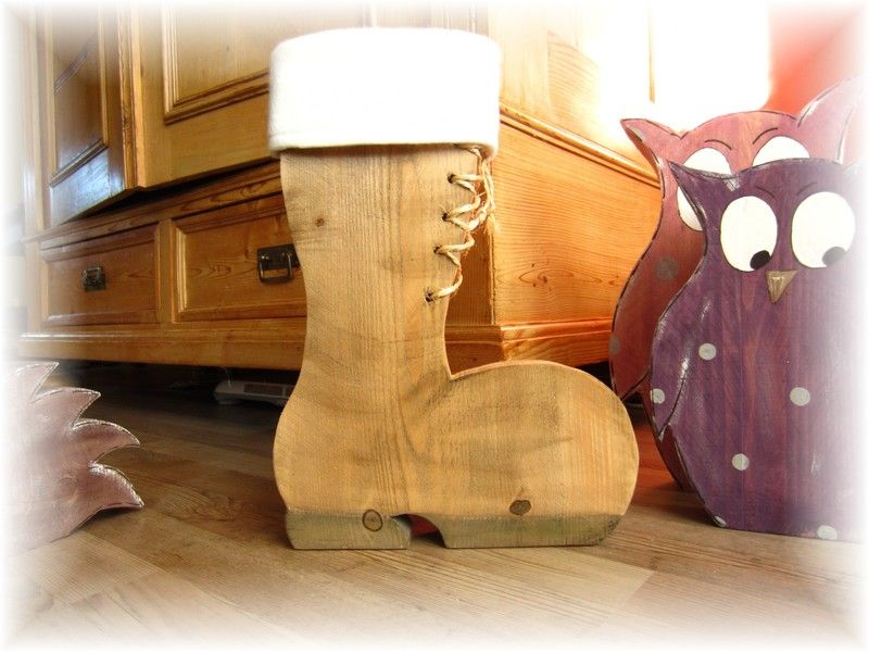 nikolaus stiefel aus bauholz von sch nes aus holz made by me auf x mas. Black Bedroom Furniture Sets. Home Design Ideas