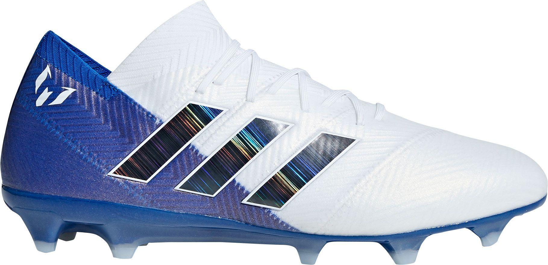 best sneakers 2906f 73e70 adidas Men s Nemeziz Messi 18.1 FG Soccer Cleats, White