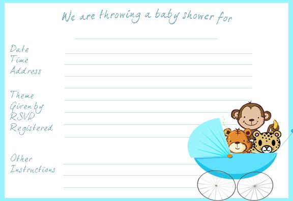 Download Free Printable For Your Baby Shower Invitations FREE Baby