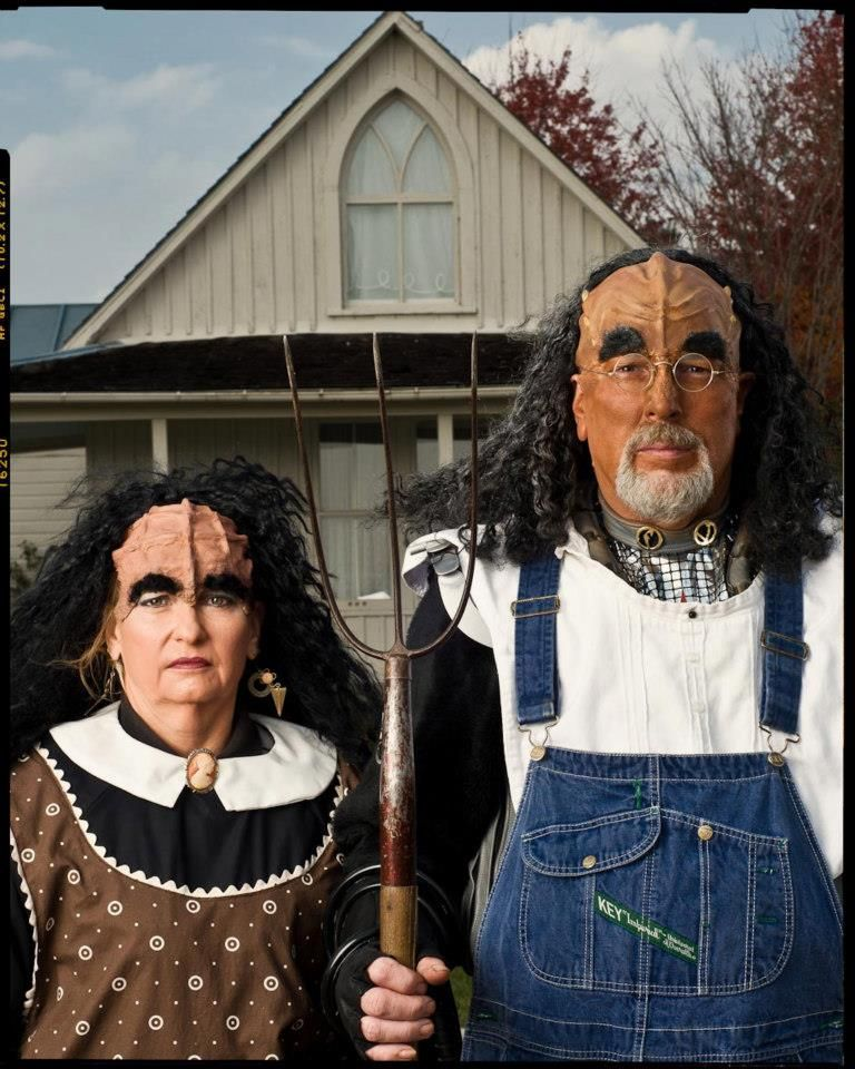 American Gothic satire-Klingon