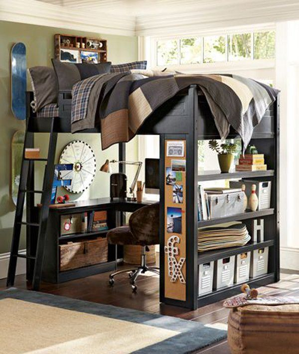 45 creative dorm room ideas amazing bunk beds bunk bed for Limited space bedroom ideas