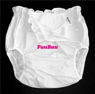 2x 2219 Japan Incontinence Adult Diaper Plastic Pants 白 Plastic