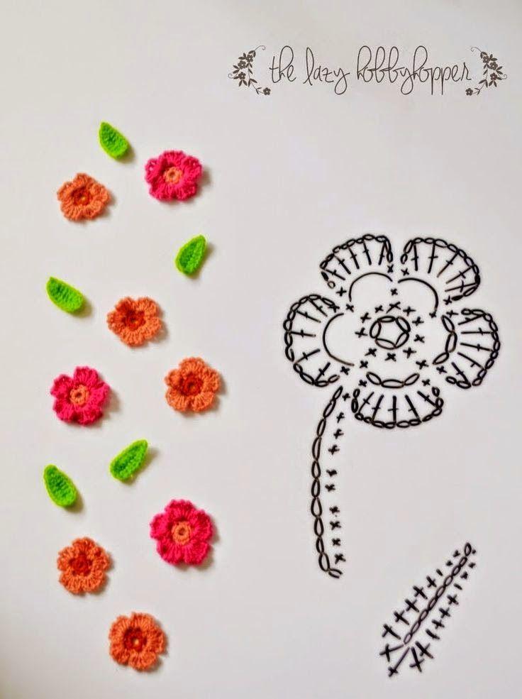 Pin de Sandra Gauna en Crochet | Pinterest | Croché, Ganchillo y Flores