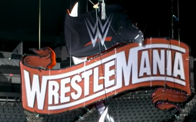 Wwe Officially Raises Wrestlemania 36 Sign Before Raw Wrestlemania Wwe Road To Wrestlemania