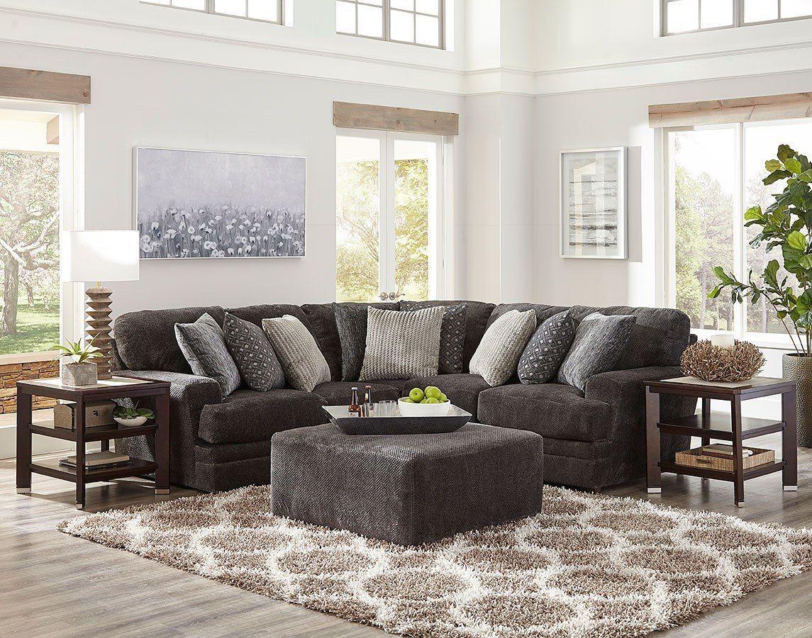 Mammoth Modular Sectional Set Smoke In 2020 Jackson Furniture Furniture Stylish Living Room #suede #living #room #set