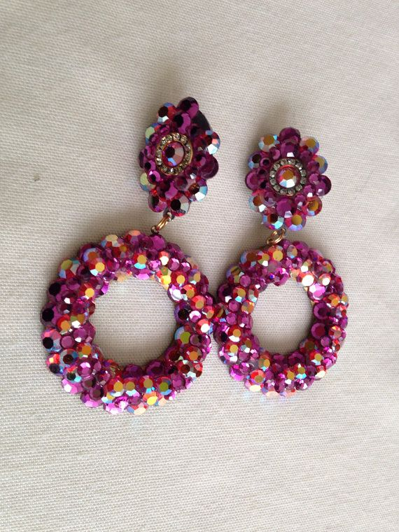 H Weisz Pink Prom Earrings By Theattic On Etsy 12 00
