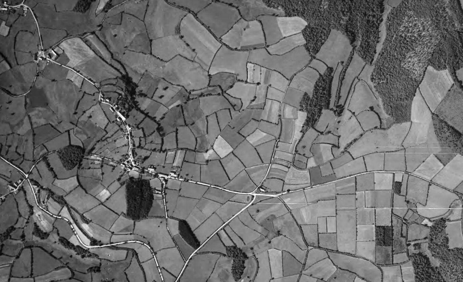photo aérienne Vizaine 1948  luchtfoto Vizaine 1948