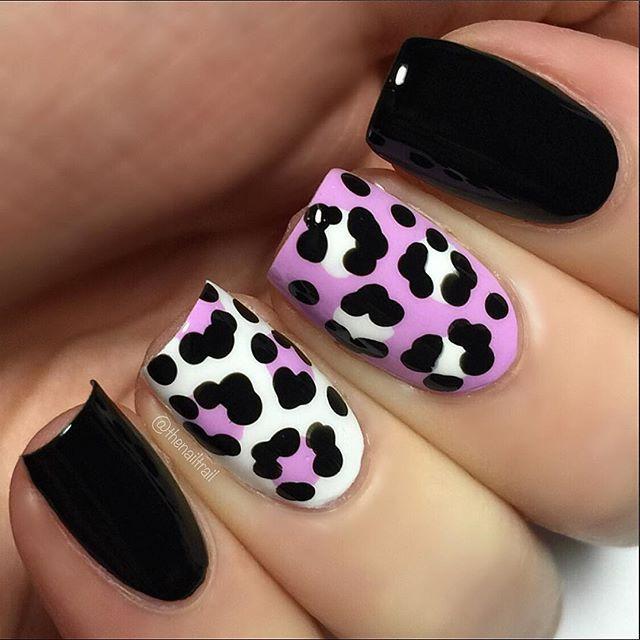 Instagram Media Thenailtrail Nail Nails Nailart Pink Leopard Nailspale Nailswhite