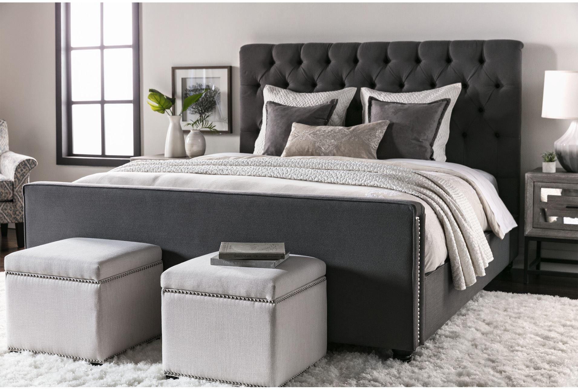 Leighton Eastern King Upholstered Panel Bed 360