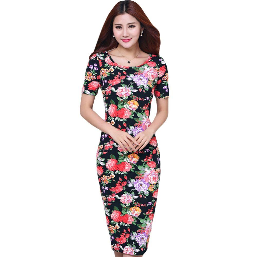 Barato 2016 Mulheres Da Moda Outono Vestidos Sexy O Pescoço Floral Impresso Bodycon Vestido de Mangas Curtas Vestidos de Festa vestidos de festa curto, Compro Qualidade Vestidos diretamente de fornecedores da China: S, busto: 84 cm (33.1in), cintura: 64 cm (25.2in), quadril: 85 cm (33.5in), comprimento: 108 cm (42.5in), ombro: